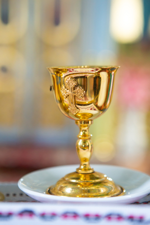 Orthodox Church attribute golden church incense bowl