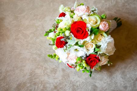 wedding attributes of brides. wedding accessories. wedding trifles Stock Photo