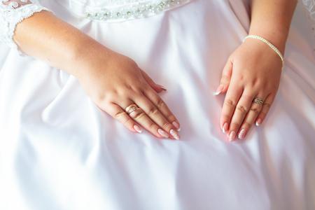 wedding bride attributes. Wedding day decoration. married 스톡 콘텐츠