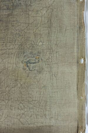 Very old fabric is spoiled by time. top view. close-up