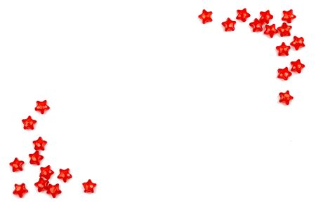background. red stars on white isolated background.