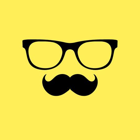 Mustache and glasses. Vector illustration Иллюстрация