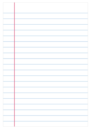 college ruled: Notebook paper background, vector Illustration