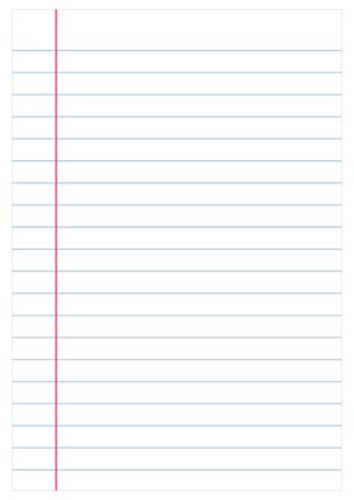 Notebook paper background, vector Stock Illustratie