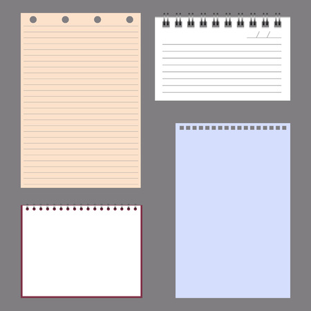 college ruled: Set of notebook papers