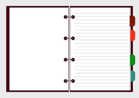 open notebook: Open notebook with pages