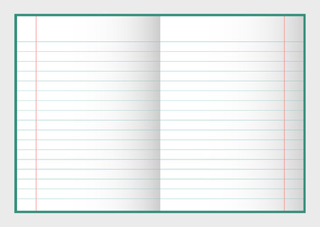 open notebook: Open notebook with pages, vector illustration for your design and business Illustration