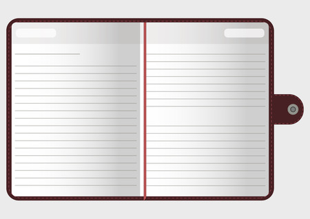 open notebook: Open notebook with pages, vector illustration  for your design and business