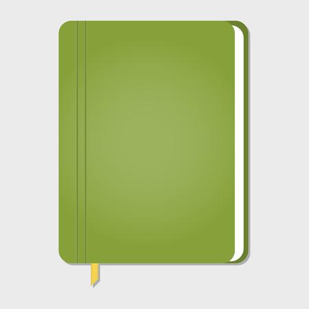note book: realistic stylish notebook, vector illustration Illustration
