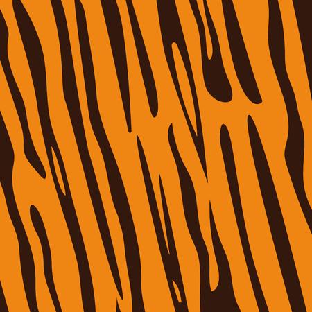fur: Seamless tiger fur pattern, vector Illustration
