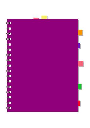 open notebook: realistic stylish notebook, vector illustration Illustration