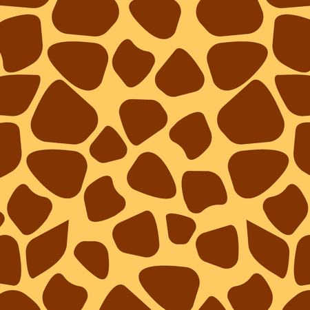 Seamless giraffe fur pattern, vector