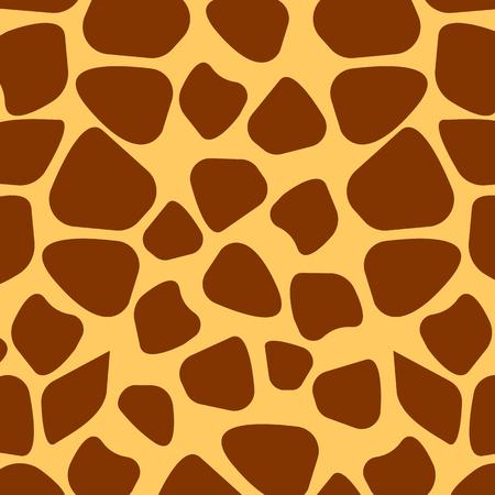 fur: Seamless giraffe fur pattern, vector