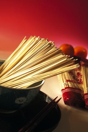 Bowl of noodles 免版税图像