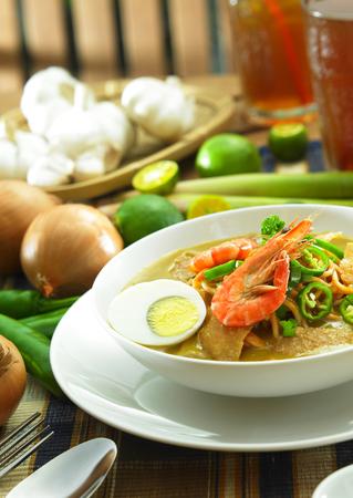Malesia cibo-Mee rebus Archivio Fotografico