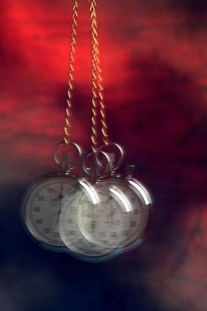 Movement of a swinging stopwatch