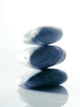 A stack of pebbles 版權商用圖片