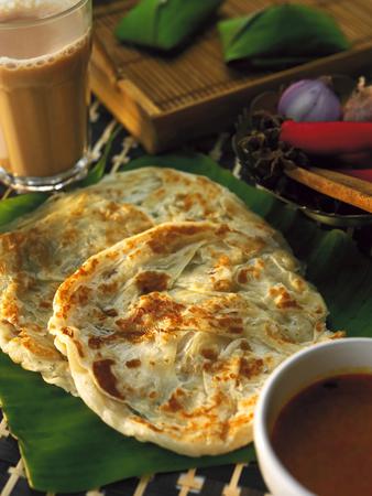Roti canai en de tarik Stockfoto
