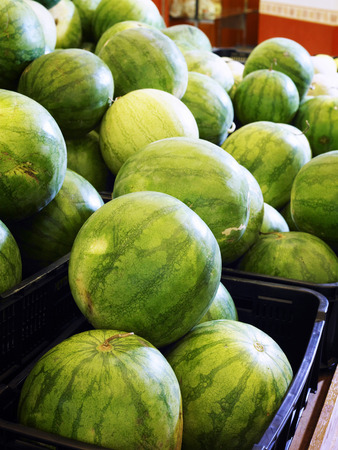 Watermelons in the crate