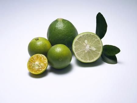 citrons verts frais Banque d'images