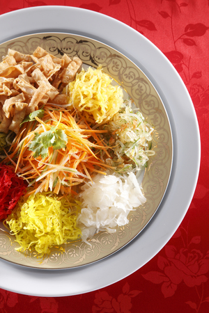 close up yusheng  for the chinese new year