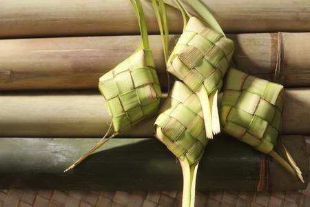 ketupat and lemang of the hari raya Stock Photo