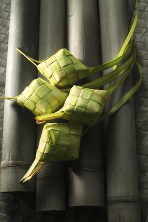 ketupat and lemang Stock Photo