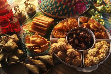 mood shot van de pelita met koekjes Stockfoto