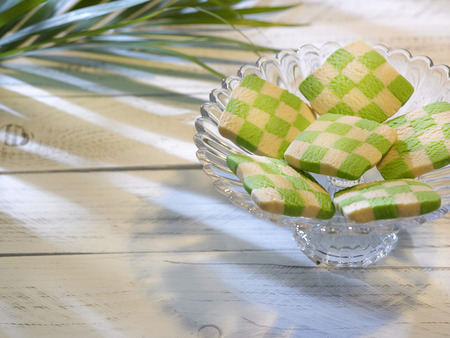 checker cookies shape and sife like ketupat