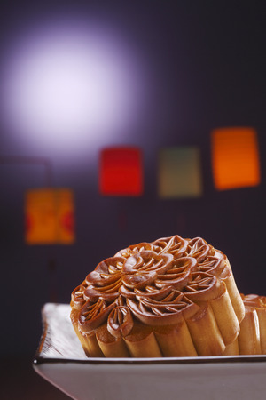 moon cake for the mid autumn festival Stock Photo
