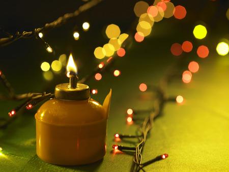oil lamp or pelita icon of hari raya