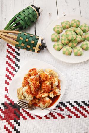 俯视图马来西亚传统食物等buka puasa