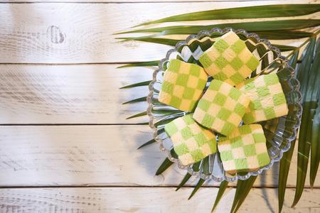 top view checker cookies shape and size like ketupat Standard-Bild