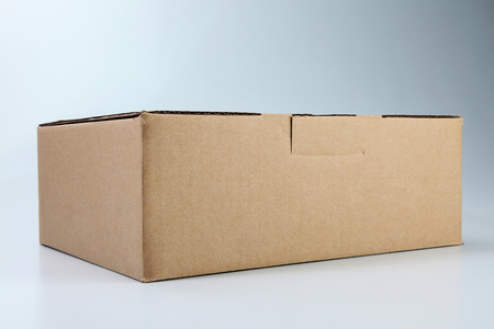 brown cardboard box on the plain background Banco de Imagens - 117872356