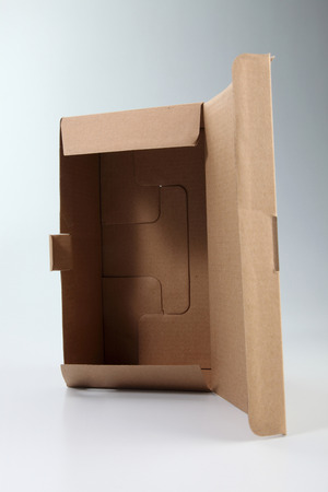 brown cardboard box on the plain background Banco de Imagens - 117873104