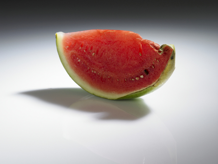 spoil  or rotten watermelon on the plain background