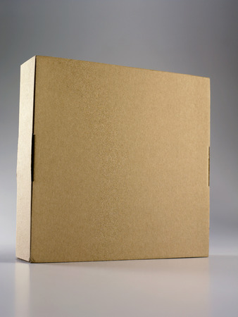 browm color cardboard box on the plain background Banco de Imagens - 117873558