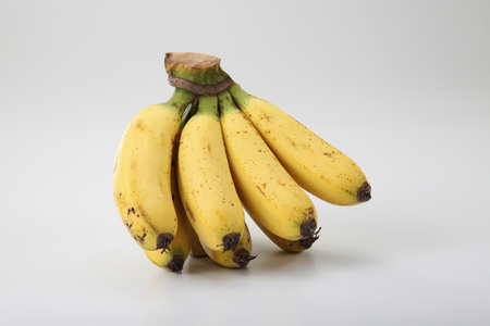 image of banana on the white background