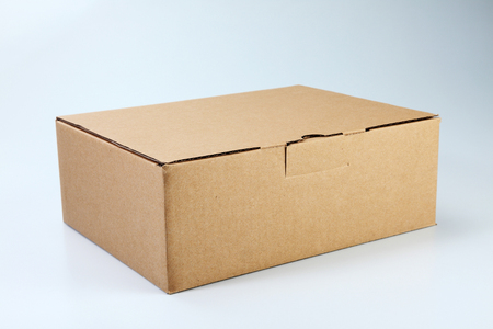 brown cardboard box on the plain background Banco de Imagens - 117873889