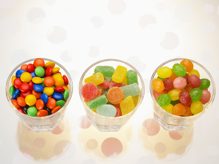 difference of the candy on the cup