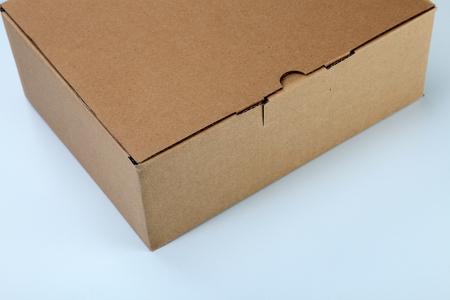 close up brown color cardbox on the plain color background Banco de Imagens - 117874112