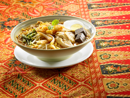 malaysian food bowl of the curry noodle nyonya style