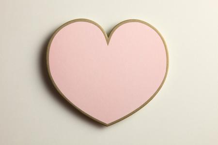 heart shape on the plain background Banco de Imagens
