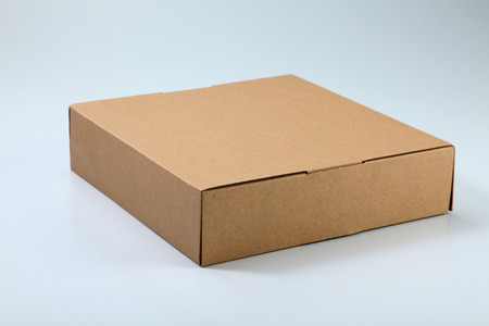 close up of the brown cardboard box on the plain background Banco de Imagens - 117874306