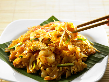malaysian famous food penang fried kuey teow Stock Photo