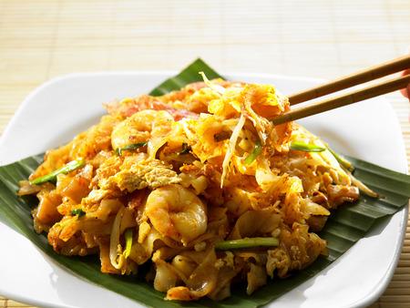 malaysian famous food penang fried kuey teow Standard-Bild