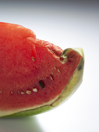 rotten or spoil watermelon on plain background 版權商用圖片