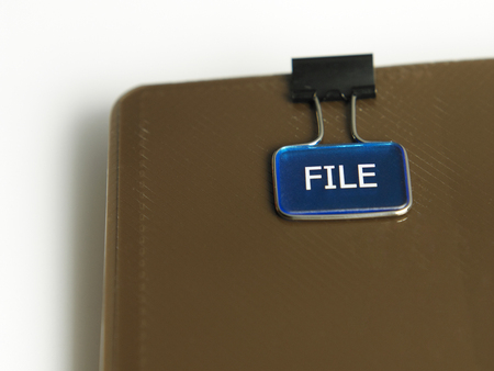 close up of file clip on the document Banco de Imagens