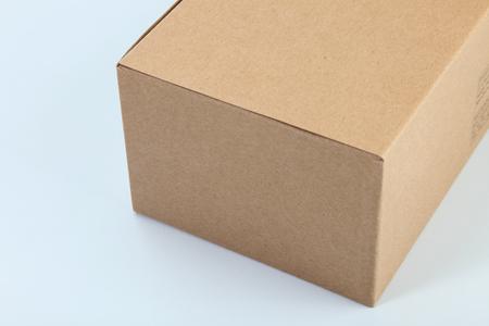 close up brown cardboard box on the plain background Banco de Imagens - 118512946