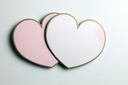 two love shape on the plain background